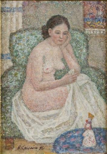 Arkady Iakovlievitch KRIMSKY - Painting - In thought