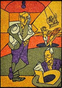 Valerio ADAMI - Peinture - Coro  girotondo