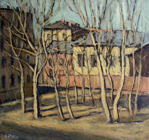 Valeriy NESTEROV - Gemälde - Taganka yard. Moscow
