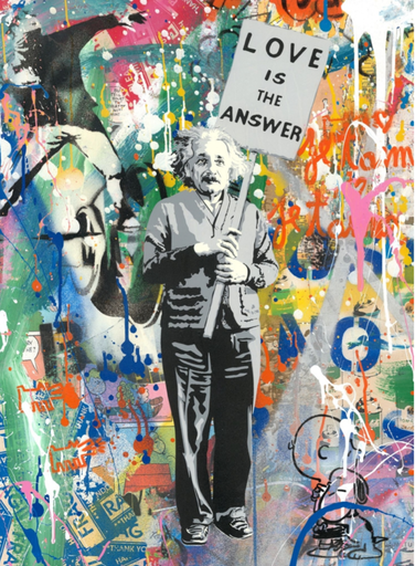 MR BRAINWASH - Gemälde - Albert Einstein