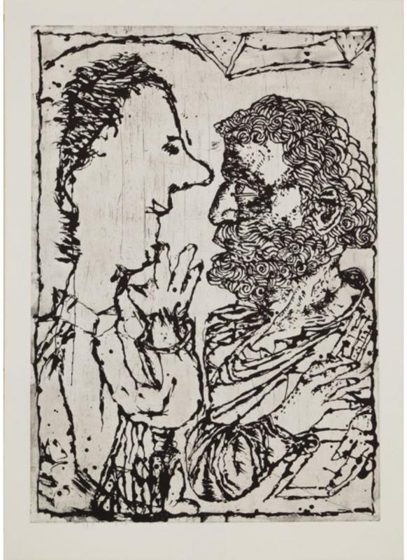 Jean-Pierre PINCEMIN - Print-Multiple - Jean-Pierre et Saint-Pierre