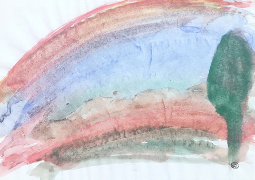 Dora MAAR - Drawing-Watercolor - Composition