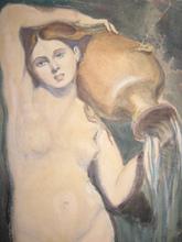 Jean Auguste Dominique INGRES (Attrib.) - Dibujo Acuarela - La source