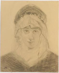 """Friedrich Albin KOKO-MIKOLETSKY - Zeichnung Aquarell - """"Portrait"""", 1920's"""