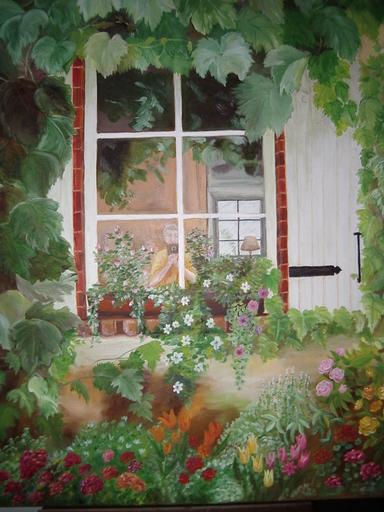 Fabienne DELORD-DESCOURVIERES - Peinture - A Travers les Murs