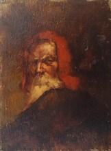 Marcel ARNAUD - Peinture - Autoportrait en Michel-Ange