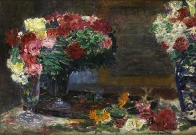 Inocencio Garcia ASARTA - Pintura - Bodegón con Flores