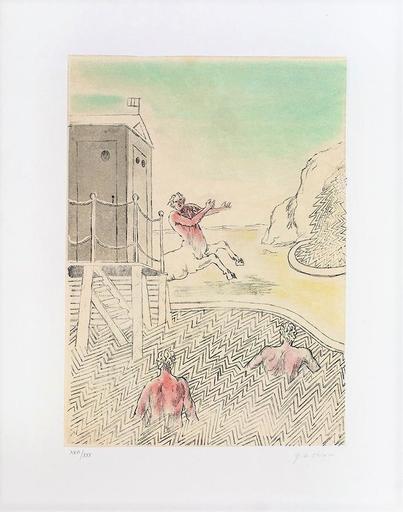 Giorgio DE CHIRICO - Grabado - L'arrivo del centauro, 1973