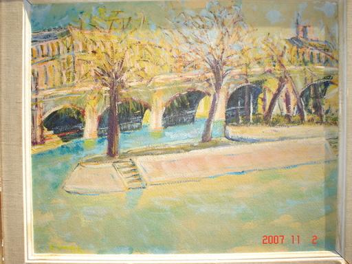 Gilbert SANDOZ - Pintura - sous les ponts