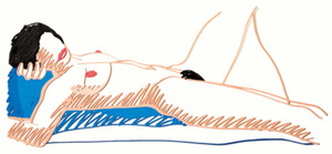 Tom WESSELMANN, Monica Lying on Her Back