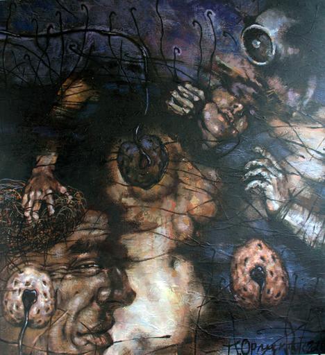 Maxim ORLITSKIY - Painting - The princess of Moon sectarians