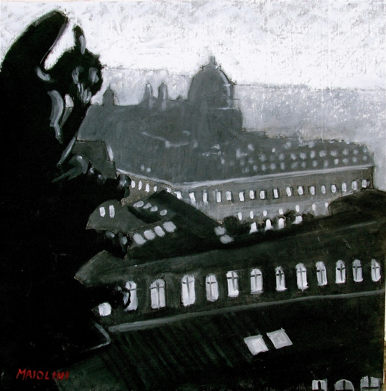 Carlo MAIOLINI - Peinture - Vue d'en Haut