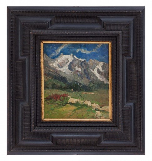 Alessandro LUPO - Painting - Paesaggio montano