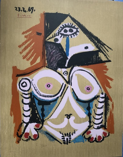 巴勃罗•毕加索 - 版画 - PORTRAIT IMAGINAIRE