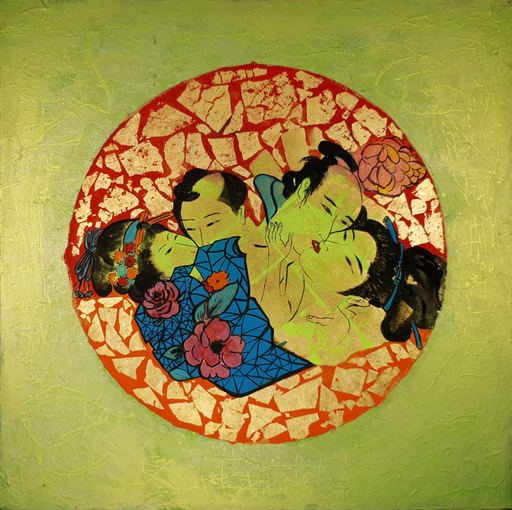 Corine LESCOP - Peinture - Le baiser