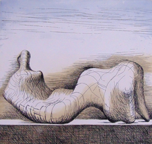 Henry MOORE (1898-1986) - Reclining Figure