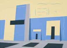 Thomas HUBER - Painting - Blauer Fries (TH-2011-B-05)