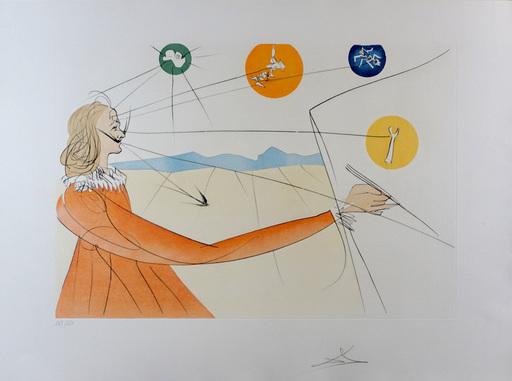 Salvador DALI - Druckgrafik-Multiple - Dalinean Prophecy