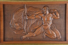 Georges ARTEMOFF - Sculpture-Volume - The Bison Hunt