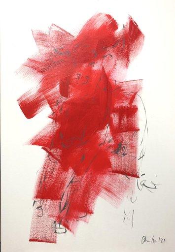 Nicole LEIDENFROST - Gemälde - bull - abstract - red
