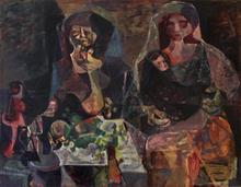 Romeo TABUENA - Painting - Mujeres y Niño
