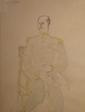 Wilhelm THÖNY - Drawing-Watercolor - Der General