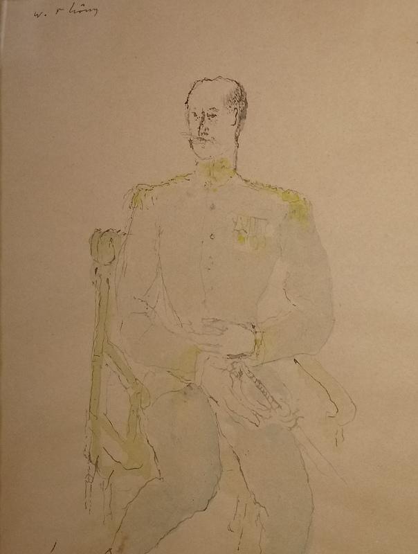 Wilhelm THÖNY - Dibujo Acuarela - Der General