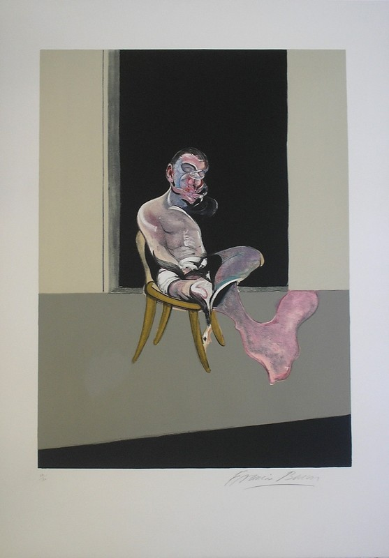 Francis BACON - Grabado - Triptych August 1972, Right panel