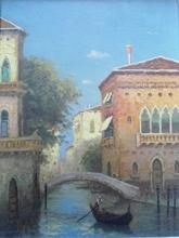 Adrian DINGLE - Peinture - Gondolier à Venise