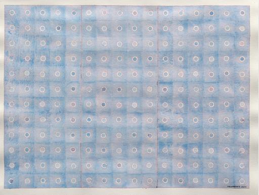 Jérémie IORDANOFF - Pittura - Bleu, rose... (Abstract work on paper)
