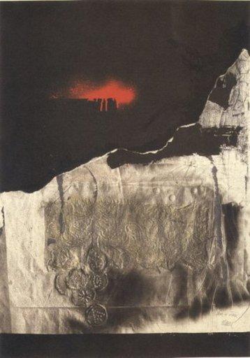 Antoni CLAVÉ - Print-Multiple - Tache rouge
