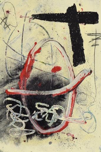 安东尼•塔皮埃斯 - 绘画 - Abstract Composition
