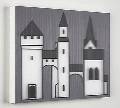 Julian OPIE - Print-Multiple - Medieval Village 1