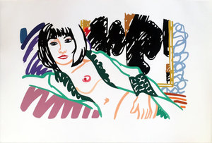 Tom WESSELMANN - Print-Multiple - Monica in Robe with Motherwell
