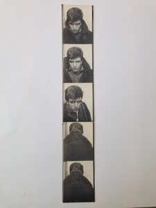 Andy WARHOL, Photobooth portrait strip of gregory Rozakis 1964