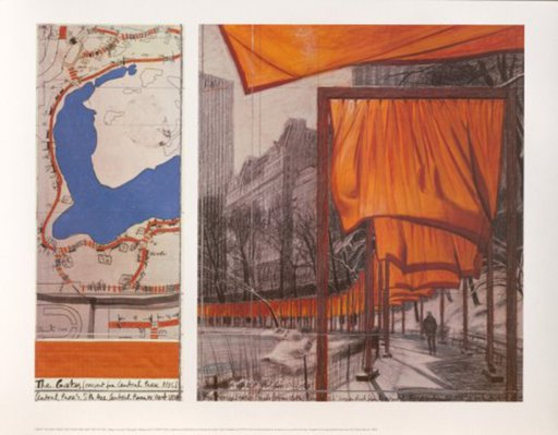 CHRISTO - Print-Multiple - The Gates: Project for Central Park, New York City (b)