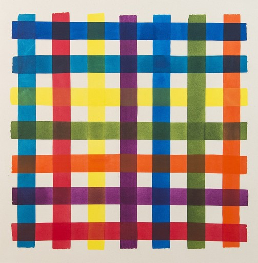Aron HILL - Painting - Multicolor Test Grid