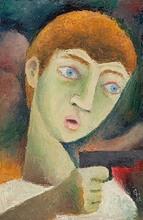 Carry HAUSER - Painting - Der junge Mörder