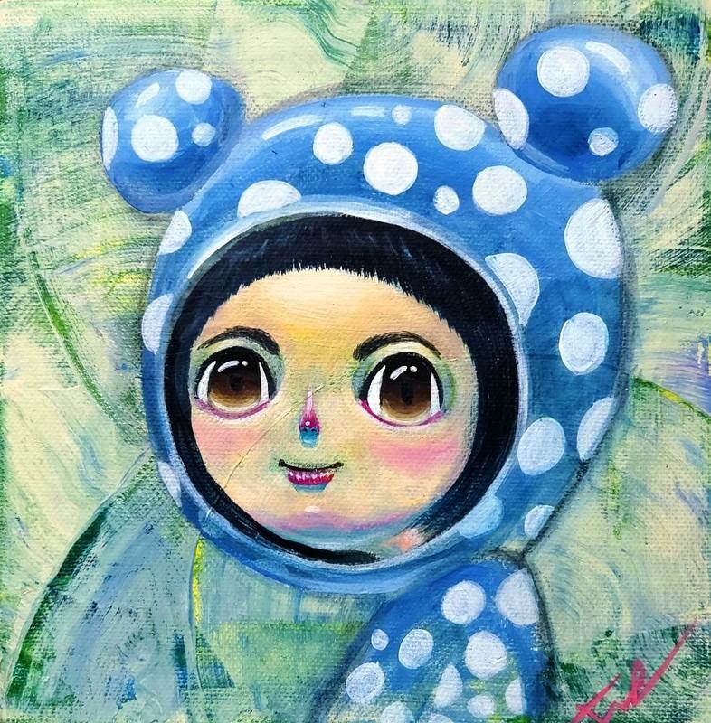 Seung-Hun SHIN - Gemälde - Fantasy Jejuisland- Island Girl Story Chun-ja Healing Garden