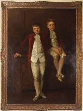 Reginald Grenville EVES - Peinture - Portrait of Prince Edward and Prince Albert