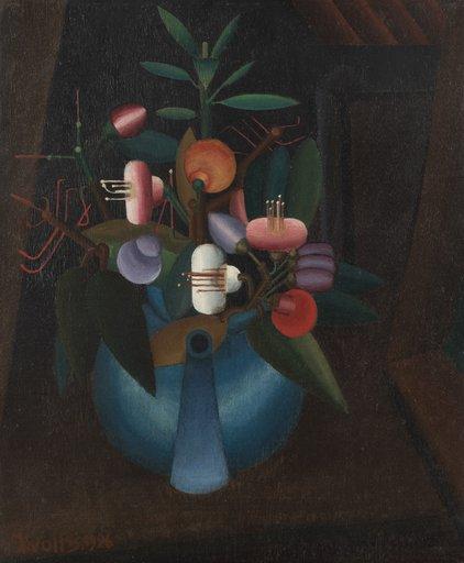 Hubert WOLFS - Painting - cubist composition