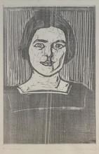 """Edvard MUNCH (1863-1944) - """"Kvinneportrett"""" / """"Portrait of a woman"""""""