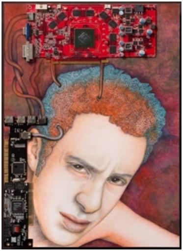 Katrin ALVAREZ - Painting - Der Denker