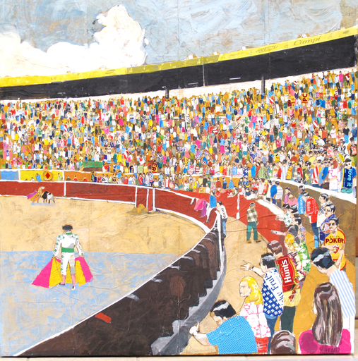 Miguel OLIVARES - Dibujo Acuarela - Plaza de Toros