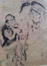 Issachar Ber RYBACK - Drawing-Watercolor - Jewish Couple