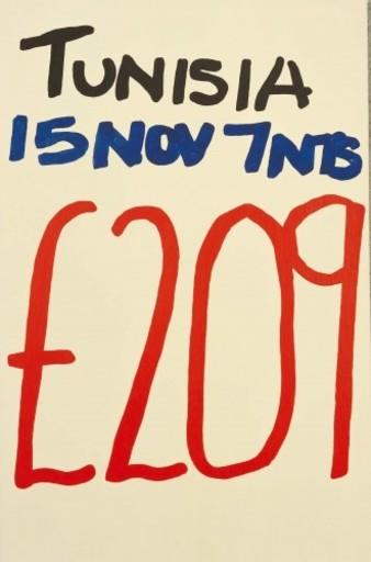 Jonathan MONK - Peinture - Tunisia No 787