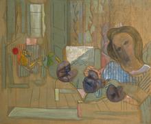Francisco BORES - Peinture - Les fleurs et l'espace