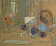 Francisco BORES - Pintura - Les fleurs et l'espace