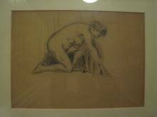 Frantisek KUPKA - Drawing-Watercolor - FEMME NUE