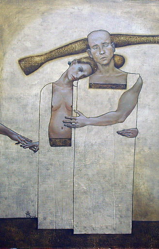 Maxim ORLITSKIY - Painting - Love in four hands